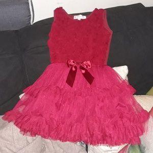 LITTLE GIRLS RED TUTU FANCY DRESS